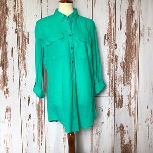 Linen-blend Tunic Style Top by Old Navy